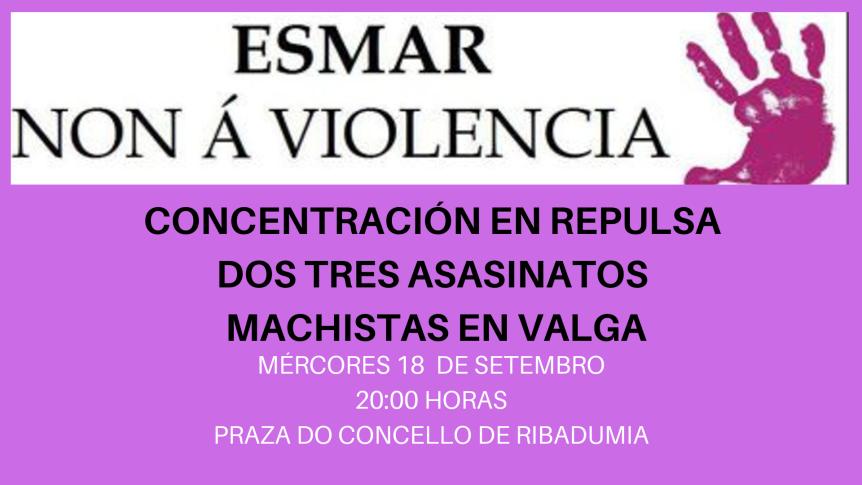 CONCENTRACIÓN EN REPULSA DOS TRES ASESINATOS MACHISTA EN VALGA (1)